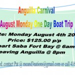 One Day boat trip to Anguilla Carnival: August 4
