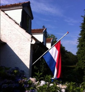 Flags at half mast as the Netherlands mourns MH17 air crash dead
