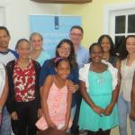 Kingdom representative Isabella with Saba youngsters (Photo  Caribbean Netwerk)