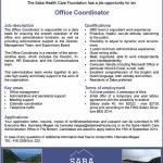 Vacancy for Office Coordinator Saba Health Care Foundation