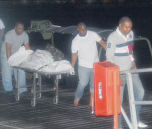 The body of a young man was found and brought back to the Coast Guard Headquarters. (Photo The Daily Herald)