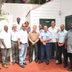 from the ports of Saba, St. Eustatius and St Maarten; law enforcement agencies and other organizations at the Harbor Masters Consultation in Saba. (Photo GIS Saba)