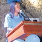 Monique Wilson, SLP's sixth candidate, talks about her plans for a better Saba (Photo The Daily Herald)