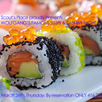 Sushi & Sashimi @ Scout's Place – March 26