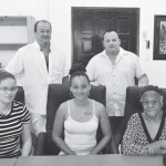 Carnival slogan judges from left: Kelly Johnson, Glenn Holm, Elsa Peterson-Heyliger, Saba Festival Foundation President Stanford Johnson and Carmen Simmons.