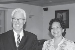 Joint Court President Evert Jan van der Poel (left) with quartermaster Jane Jansen.