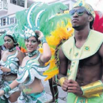 Revellers during the Grand Parade of 2013.