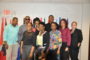 Students and Department Heads with which they will be working during the summer.