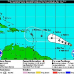 Governments warn for hurricane Danny