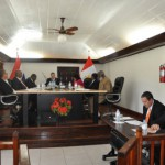 Members of the Island and Executive Councils during the budget meeting on Tuesday (Photo GIS Saba)