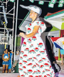 Miss Saba Natalia Peterson showing off her cultural dress. (STK photo)