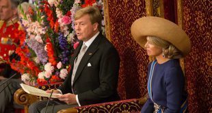 King Willem Alexander reads the 2016 speech