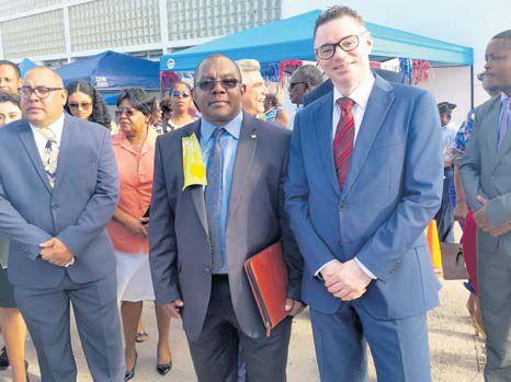 Commissioner of Culture Rolando Wilson (left) with Dutch Government Representative Gilbert Isabella.